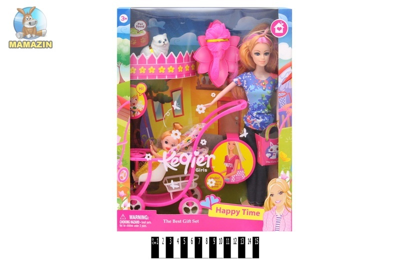 Кукла типа Барби с коляской и аксессуарами 68009 A-Toys ...